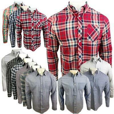 Ex UK Chainstore Men's Long Sleeves Check Cotton Summer Casual Shirt Tops