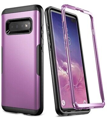 YOUMAKER Case for Galaxy S10+ Plus, Metallic Heavy Duty Protection Shockproof