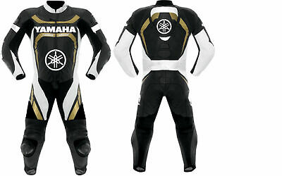 YAMAHA One Piece Motorbike Racing Leather Suit For Men's all Sizes Available