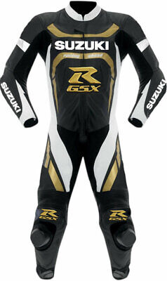 SUZUKI RGSX One Piece Motorbike Racing Leather Suit For Men's All Size Available