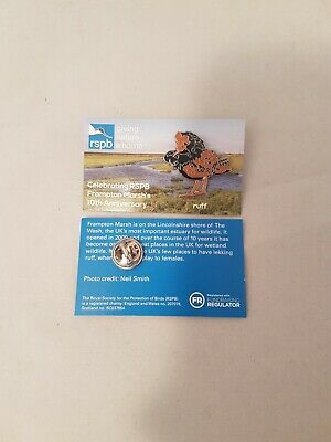 RSPB Pin Badge Ruff Frampton Marsh 10th Anniversary Special Edition GNAH Bird
