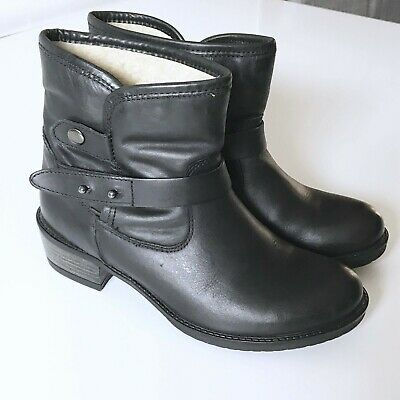 ae73050cbff Women s Steve Madden Leather Biker Ankle Boots - Black - Size 7 - Used Once