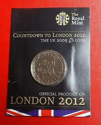 2012 Countdown To London  Five Pound Crown In Card [2]