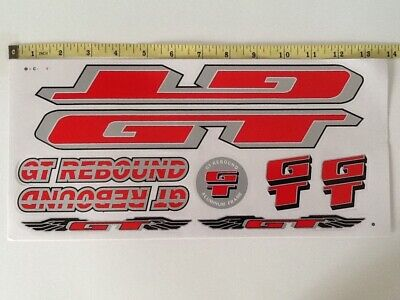 Silver /& Black. Huffy Stickers 4130 Red