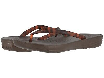 2dea59f2f Women s Shoes Fitflop iQUSHION TORTOISESHELL Flip Flop Sandals T49-690  CHOCOLATE