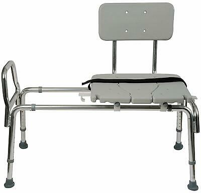 Tub Transfer Bench And Sliding Shower Chair Made Of Heavy Duty Non Slip Aluminum