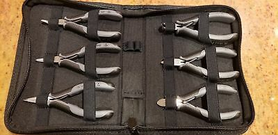 Knipex 00 20 17 ESD Chrome Pliers and Polyester Fabric Case Set - 6pc
