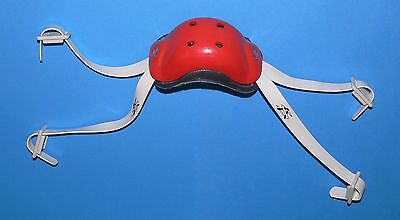 Athletic Specialties Adult Red 4 Point Short N Long Hookup Football Chinstrap