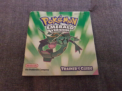 Pokemon Pokémon Emerald GBA Instruction Manual Booklet *cheap shipment!*