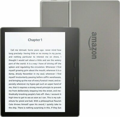"Brand New Amazon Kindle Oasis - 7"" WiFi + Cellular 32GB E-Reader - Black/Silver"