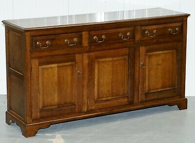 Vintage Solid English Oak Sideboard Cupboard With Drawers Hand Made England