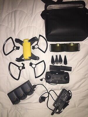DJI Spark Fly More Combo - Sunrise Yellow Quadcopter Drone - 12MP 1080p Video