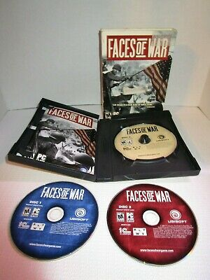 Faces of War Complete PC Game Rated M by Ubisoft Big Box 3 Disc Set WWII