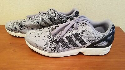 cc8da76f8 Adidas Mens Size 11.5 ZX Flux Weave Torsion Shoes Gray Silver Black
