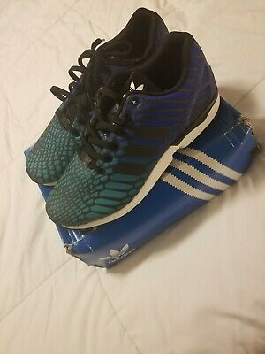 new product 96d7b 2f55e NEW MENS 9.5 * ADIDAS * Torsion Flux Running Shoes Xeno Blue Green  Reflective