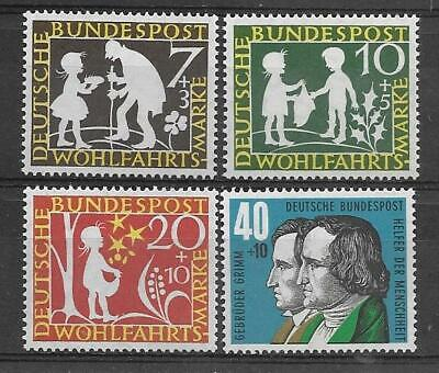 Germany 1959 Humanitarian Relief  And Welfare Fund Sg 1236-1239 Set 4 Mnh.