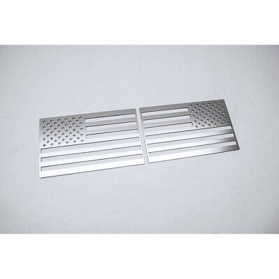ACC Flag Emblems-2pc Stainless Steel/Polished