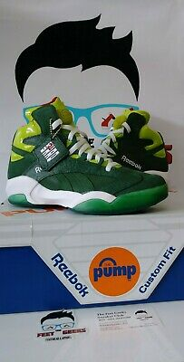 beb1ae0c333a REEBOK PUMP SHAQ Attaq OG Money Green Mens Shoes Size 10.5 New With ...