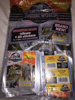 Panini Jurassic World Fallen Kingdom Stickers 50 Sealed Packets And Album