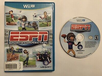 Nintendo Wii U play ESPN Sports Connection video game golf tennis football