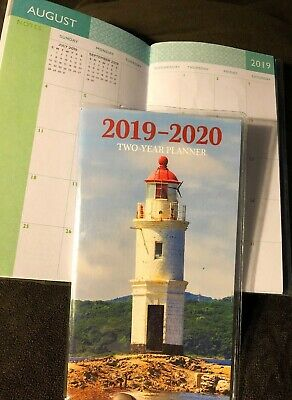 Free Shipping 2019-2020 Two Year Lighthouse PLANNER Pocket Purse Calendar 2 yr