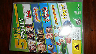 5 Movie Collection Family Dvd Set,Brand New Sealed