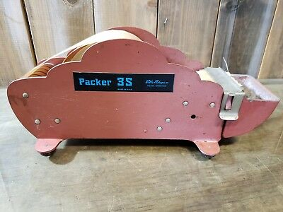 Vintage BETTER PACK Packer GUMMED TAPE DISPENSER PACKER 3S w Gummed Tape