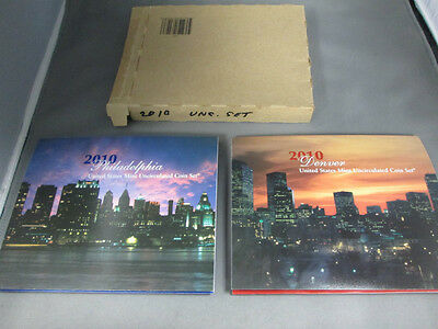 2010 United States Mint uncirculated coin sets-Denver and Philadelphia-Ungraded