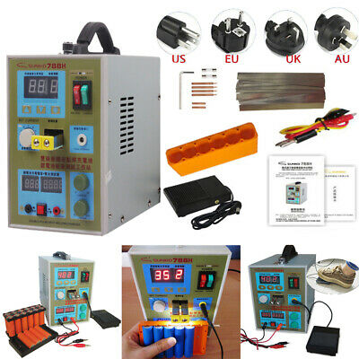 SUNKKO 788H 110V Dual Pulse Battery Spot Welder Welding Machine+Battery Charger