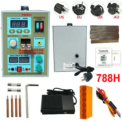 SUNKKO 788H 220V Dual Pulse Battery Spot Welder Welding Machine+Battery Charger