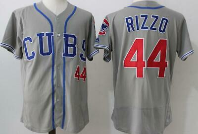8f06394e677 Men Chicago Cubs  44 Anthony Rizzo Jersey Baseball Gray Flex Base Embroidery