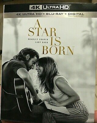Genuine A Star Is Born 2018 Usa 4K Ultra Hd Blu-Ray Digital Code Slipcover New