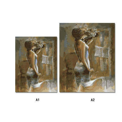 Hand-painted Figures Art Wall Painting Canvas Unframed Print Picture Home RRN