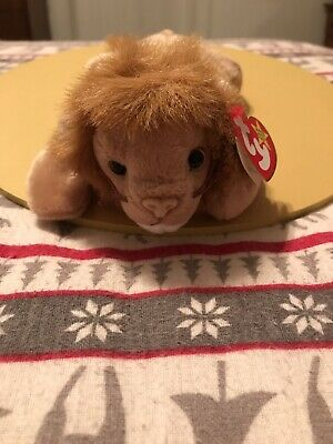 0aa7c68133b TY ROARY THE LION BEANIE BABY - MINT with MINT TAGS -  3.95