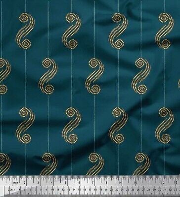Soimoi Fabric Stripe & Dotted Swirl Abstract Print Sewing Fabric BTY-AB-638H