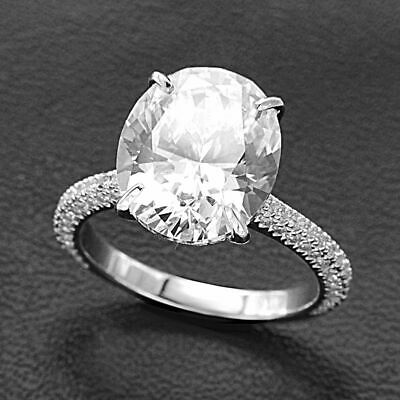 2.50 Ct Oval Cut Diamond Engagement Ring 14k White Gold Finish For Women's