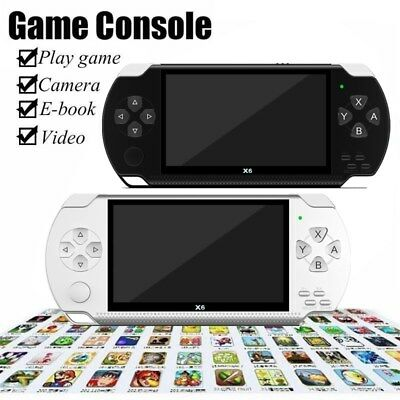 """X6 8G 32Bit 4.3"""" PSP Portable Handheld Classic Game Console Player Video"""