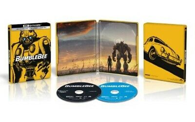 "New! Bumblebee (2018) ""steelbook"" 4K Ultra Hd Blu-Ray + Blu-Ray + Digital *4/2*"