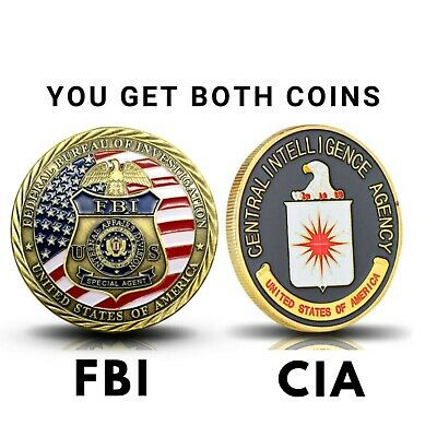 Federal Bureau of Investigation FBI Challenge Coin Original CIA Challenge Coin