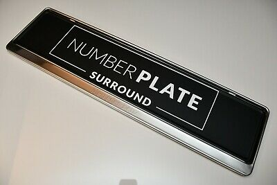 1 x PRESTIGE CHROME STAINLESS STEEL NUMBER PLATE SURROUND HOLDER FOR MERCEDES !!