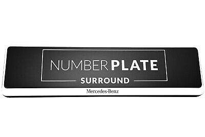 1 x PRESTIGE WHITE STAINLESS STEEL NUMBER PLATE SURROUND HOLDER FOR MERCEDES