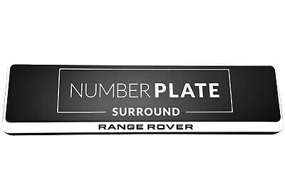 1 x PRESTIGE WHITE STAINLESS STEEL NUMBER PLATE SURROUND HOLDER FOR RANGE ROVER