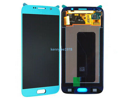 Für Samsung Galaxy S6 G920F G920 LCD Display Touch Screen sky blue+cover+tool