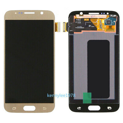 Für Samsung Galaxy S6 G920F G920 LCD Display Touch Screen Digitizer Gold+cover