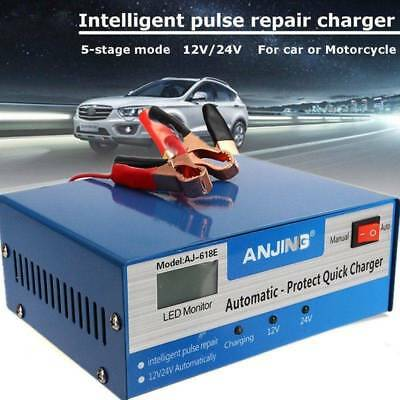Smart Car Battery Charger Automatic 12V 24V Lead Acid Auto Pulse Repair Starter