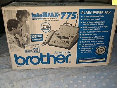 Brother Intellifax 775 Plain Paper Fax with Phone & Copier - Ships FREE