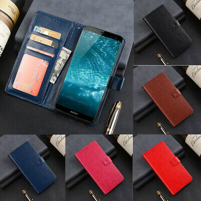 Case Slim Magnetic Wallet Card Leather Flip Stand Cover For Sony XZ2 XZ3 XA2 XA3