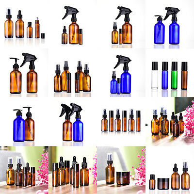 10/15/30/60/240ml Amber Glass Dropper Spray Bottles Portable Travelling Jar Best