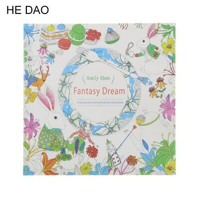 Coloring Book For Children Adult Relieve Stress Kill Time 24 Pages Fantasy Dream