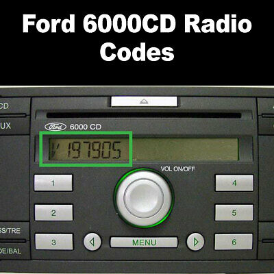 Ford 6000 CD Radio Code